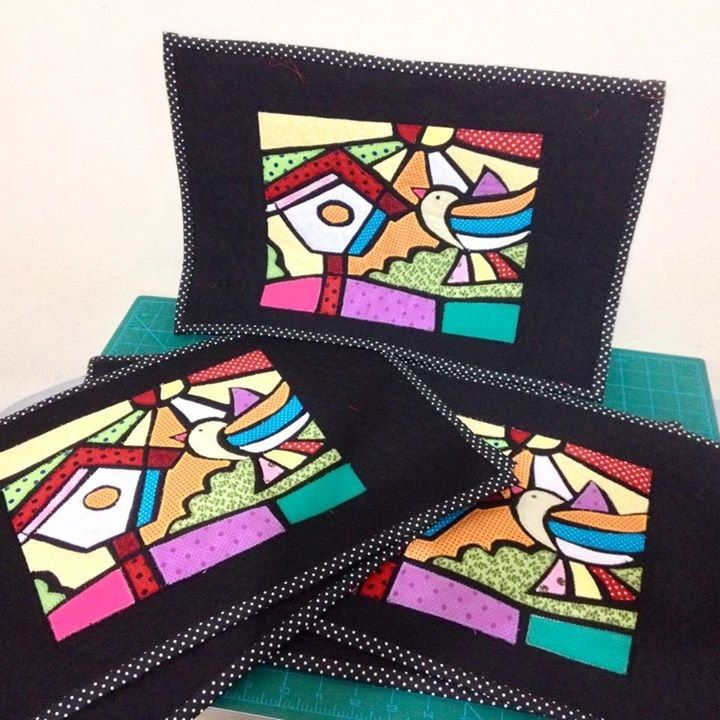 COMO FAZER PATCH VITRAL INSPIRADA NA OBRA DO ROMERO BRITO