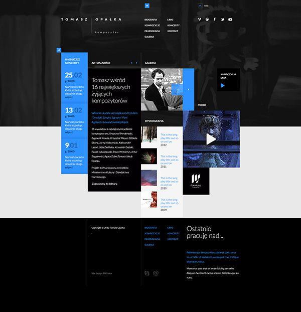 Tomasz Opalka Website Concept by Mik Skuza, via Behance
