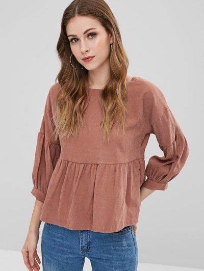 67b4ee5bfb Back Knotted Cut Out Blouse