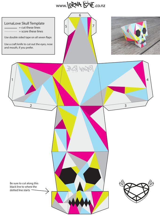 EUNYU Design :: 멋진 해골 인테리어 소품 만들기 :: 핸드메이드 인테리어 소품 :: 해골 도안