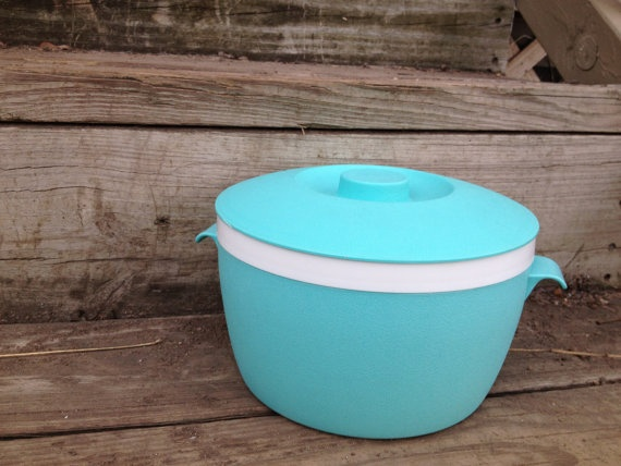 Mid century Therm O Ware bright blue by AfterWhileCrocodile, $18.00