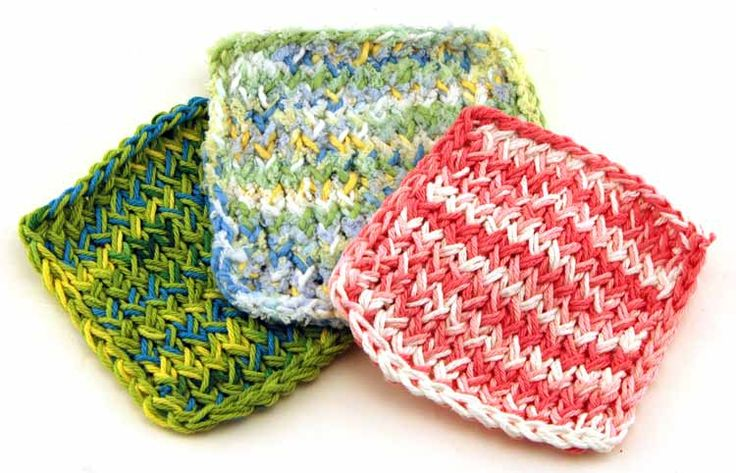 Easy Round Loom Knitting Ideas : Hand knitted infant wash cloths inch round loom