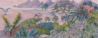 Ferdinand Finne (1910 – 1999): Innseilingen til Marquesas-øyen