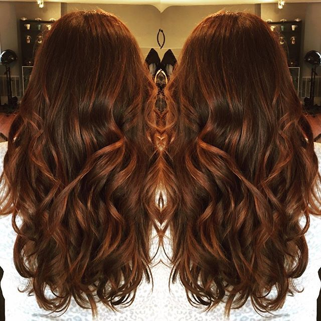Amy's beautiful auburn/cinnamon/carmel swirl, I have hair envy!! #beautybylindseyg #colourtheorysalon #balayage