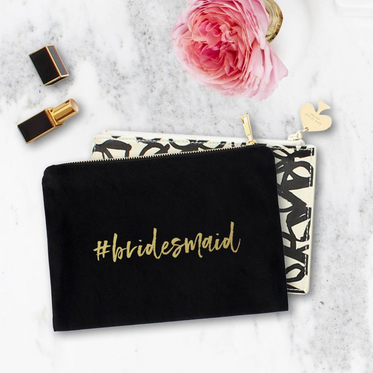 A personal favourite from my Etsy shop https://www.etsy.com/au/listing/523561246/personalized-makeup-bag-real-gold-foil