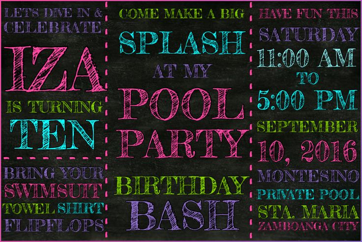 Pool Party Birthday