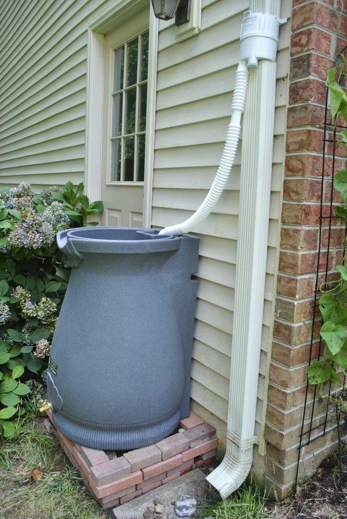 Rain barrel with diverter | Gardening | Pinterest