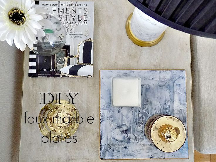 Faux marble plates - Φωτιά και μάρμαρο!