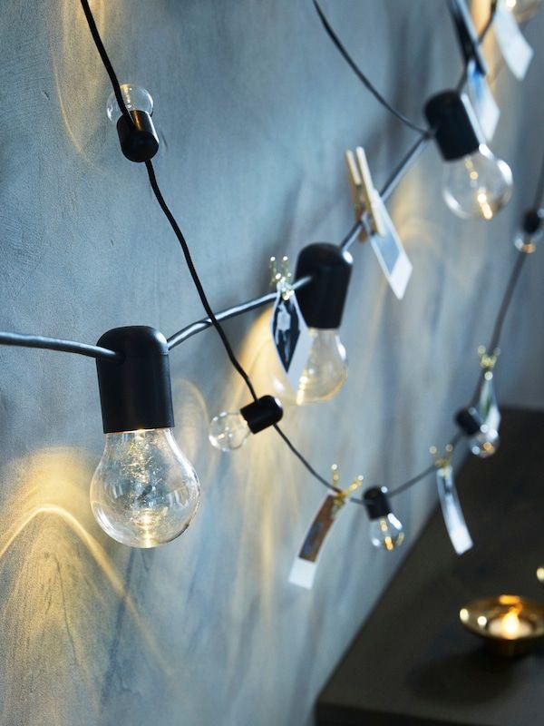Svartra Guirlande Lumineuse A Led 12 Amp Noir Exterieur Ikea En 2020 Guirlande Lumineuse Lumieres Decoratives Guirlande Lumineuse Chambre