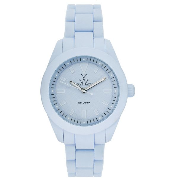 Toywatch White Rubber Strap Watch (3.044.130 IDR) ❤ liked on Polyvore featuring jewelry, watches, accessories, toy watch, logo watches, bezel watches, toy watch watches and bezel jewelry