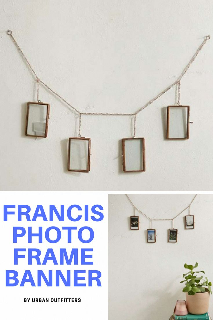 Urban Outfitters exclusive brass chain banner with four mini frames (Sponsored)    Bedroom ideas, Bedroom ideas Master, Bedroom ideas For women, Bedroom ideas Grey, Bedroom ideas For couples, Bedroom decor, Bedroom decor For couples, Bedroom decor Ideas, #Bedroomdecoratingideas #Livingroomdecorations