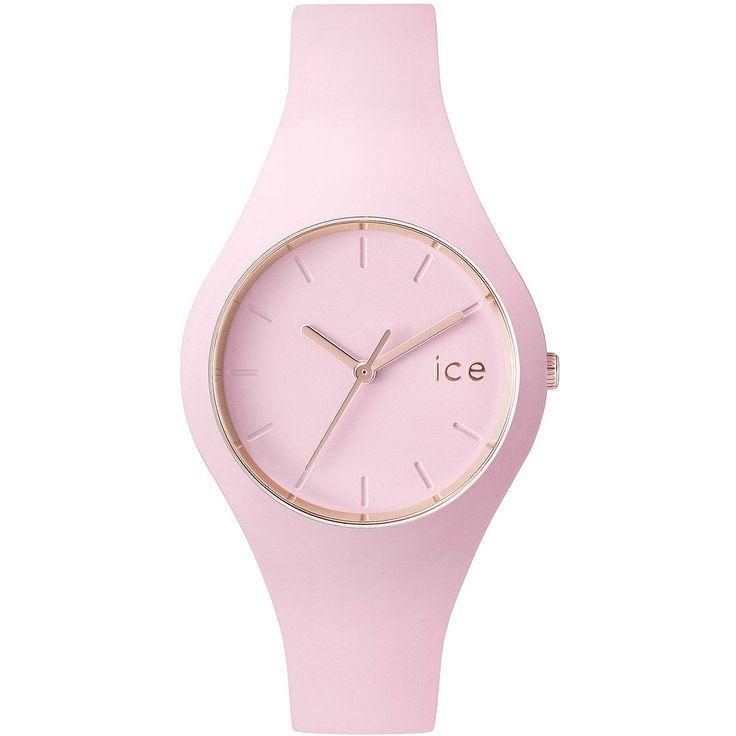 ICE-Watch - ICE Glam Pastel - Pink Lady - Small - Montre femme Quartz Analogique - Cadran Rose - Bracelet Silicone Rose - ICE.GL.PL.S.S.14: Amazon.fr: Montres