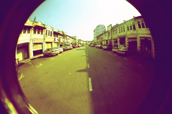 Yin Yang  Taken by pertdoherty with a Lomography Fisheye One (available in our Online Shop) loaded with Lomography X-Pro Slide 200 ISO (35mm) film in Batu Pahat, Malaysia.