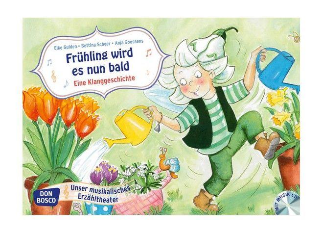 Frühling wird es nun bald, Kamishibai Bildkartenset inkl. CD, 3-6 Jahre von Don Bosco bei Spielundlern online bestellen