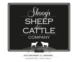 Får, kor, skinn och klädkollektion! Det ska logotypen för Skoog's Sheep & Cattle Company representera!