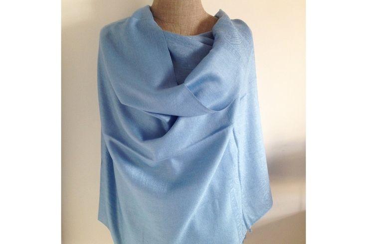 http://www.pashminacachemire.com/pashmina/1302-pashmina-bleu-clair.html - pashmina écharpe laine cachemire bleu clair homme et femme - light bluecashmere shawl scarf wool man and woman