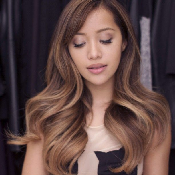 LOVEEEE this custom ombre hair color, called sandy beach.
