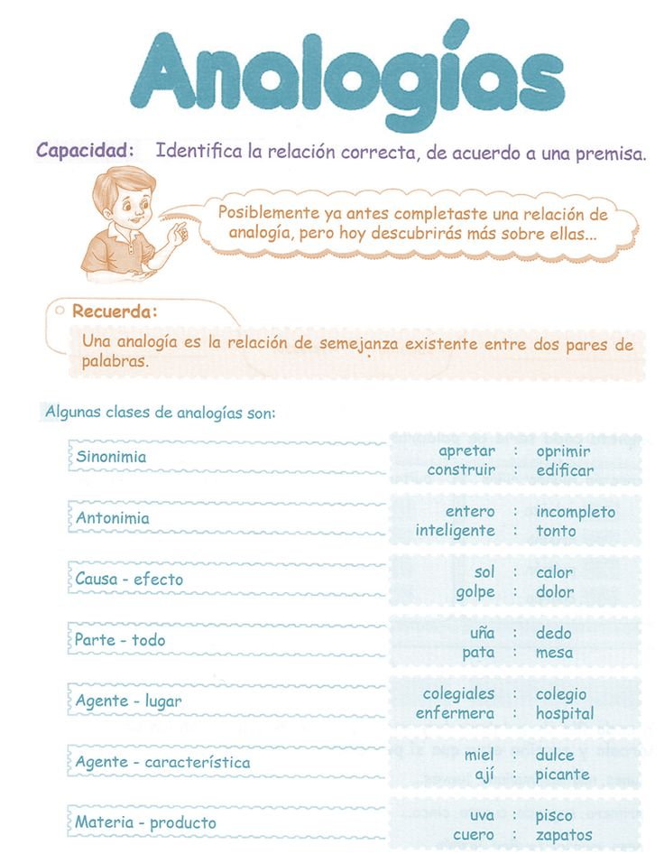 Razonamiento Verbal  Tercer Grado Primaria  Analogías Verbales  Capacidad:  Identifica la relación correcta, de acuerdo a una premisa.     A...