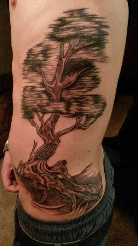 The old oak tree tattoo by rock star tattoo artist bryan for Tattoo parlors in tacoma