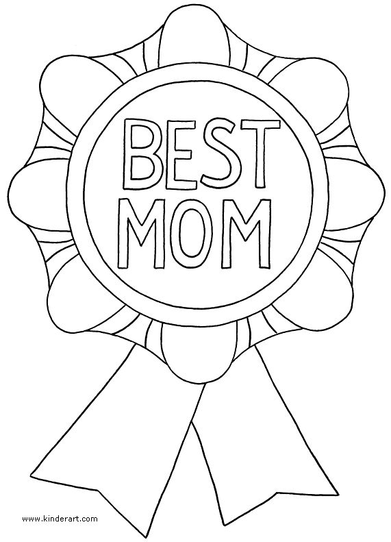 color your own mother's day pennant flags