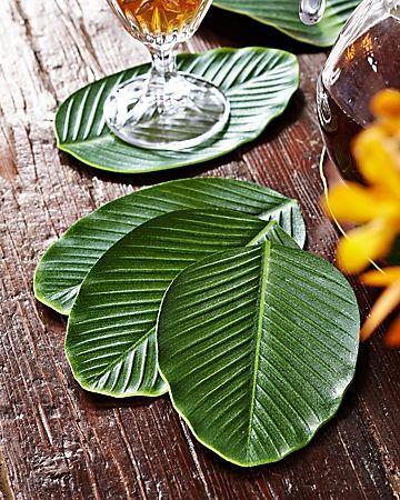 Reusable Leaf Shaped Coasters Beautiful Leaf Summer Decor