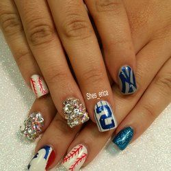 yankees nails ideas