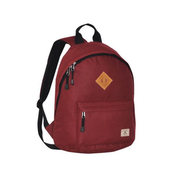 Everest Vintage Backpack ($25) ❤ liked on Polyvore featuring bags, backpacks, burgundy, padded bag, red backpack, everest, rucksack bag and vintage knapsack