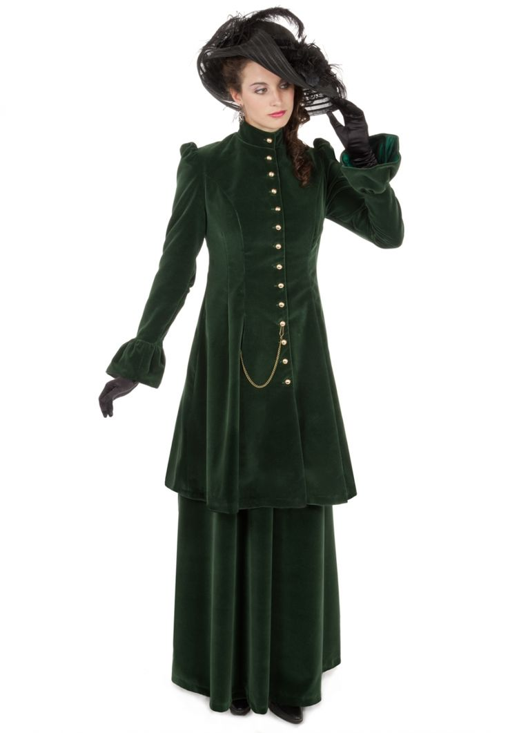 Edwardian Velvet Long Jacket Suit from Recollections
