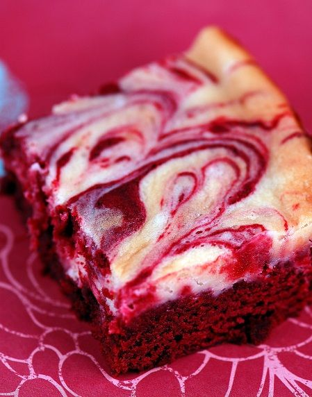 Red Velvet Cheesecake Brownies; made these for the first time and they ...