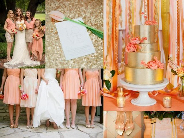 Color Scheming Peach And Gold Dreamwedding