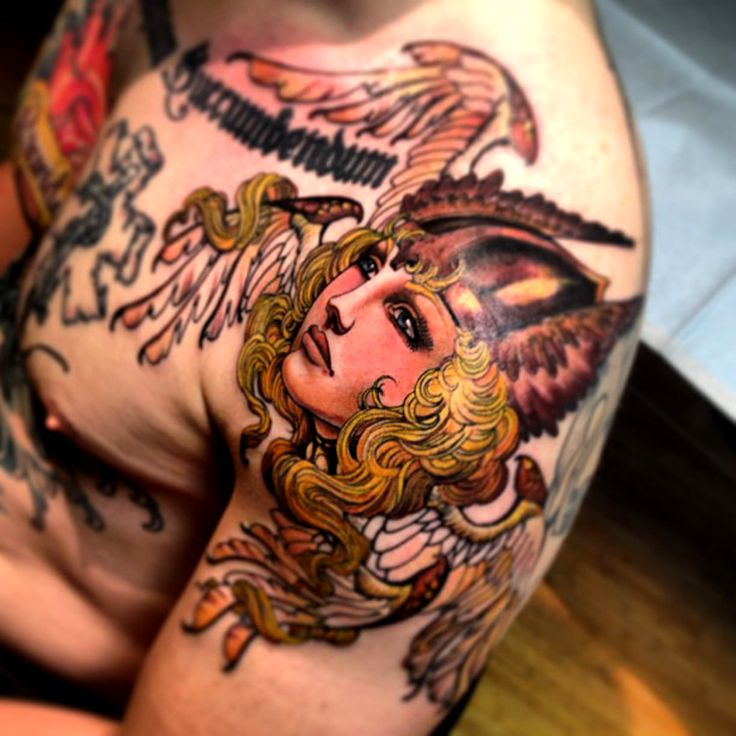 Henry Lewis  Viking woman tattoo ink