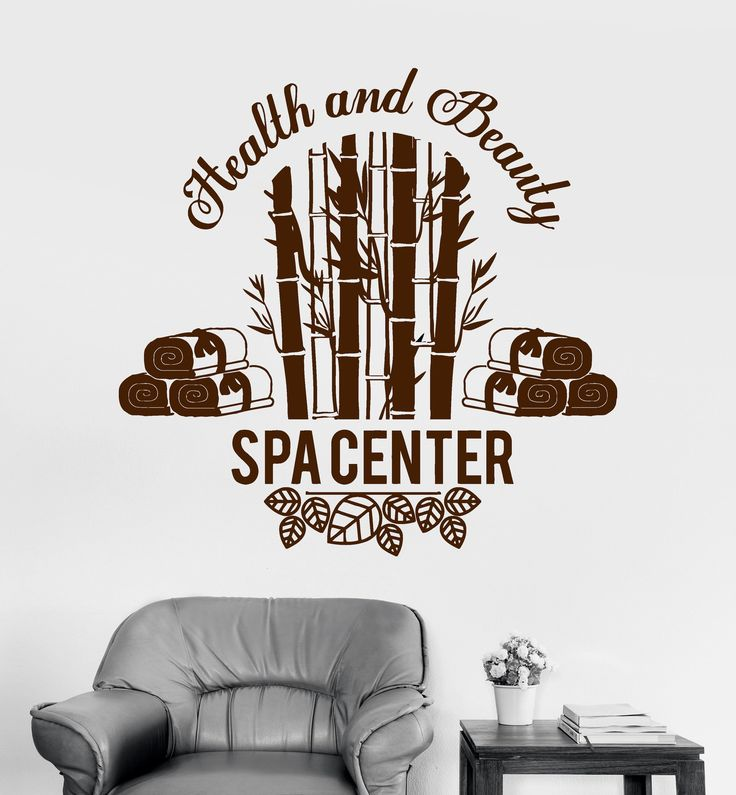 Vinyl Wall Decal Beauty Salon Health Spa Center Room Therapy Stickers Unique Gift (ig3398)