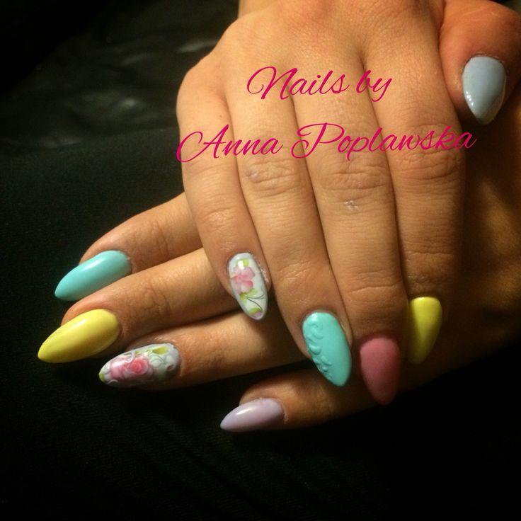 Floral spring nails 2016