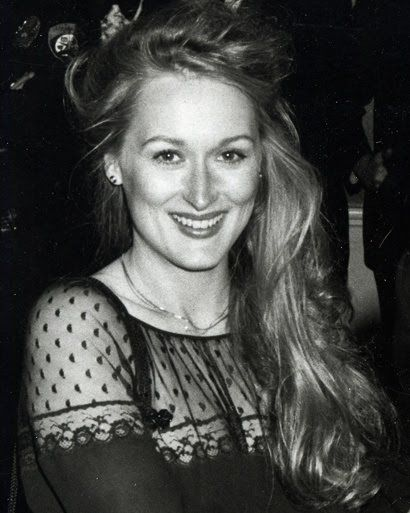 'It is well that the earth is round that we do not see too far ahead'  Meryl Streep: (here, in 1979)