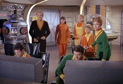 """""""Lost in Space"""" tv show -- click on the picture to read about this fun Atomic Age show :-)"""