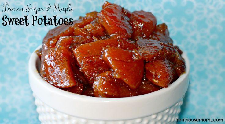 Brown Sugar and Maple Sweet Potatoes