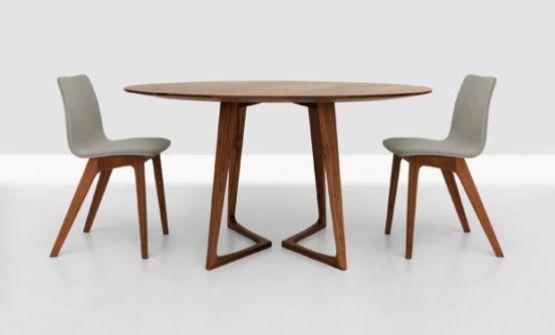 twist wooden table round design