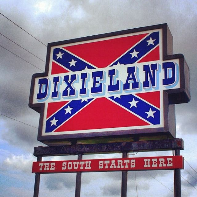 Dixie I've been there, this sign is at the mason Dixon line where Maryland and Virginia border, on the eastern shore of Virginia