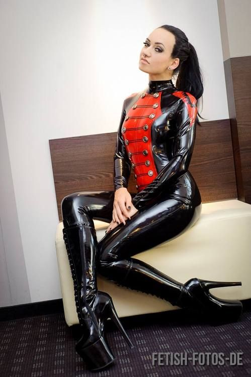 Sexy girls latex bondage very
