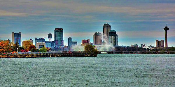 Niagara Falls River View Art Print by Leslie Montgomery.
