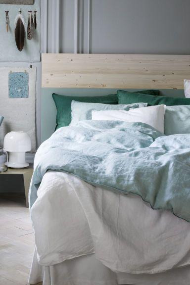 the perfect bed set - 2 одеяла, 3 сета подушек, подзор для кровати; все из льна