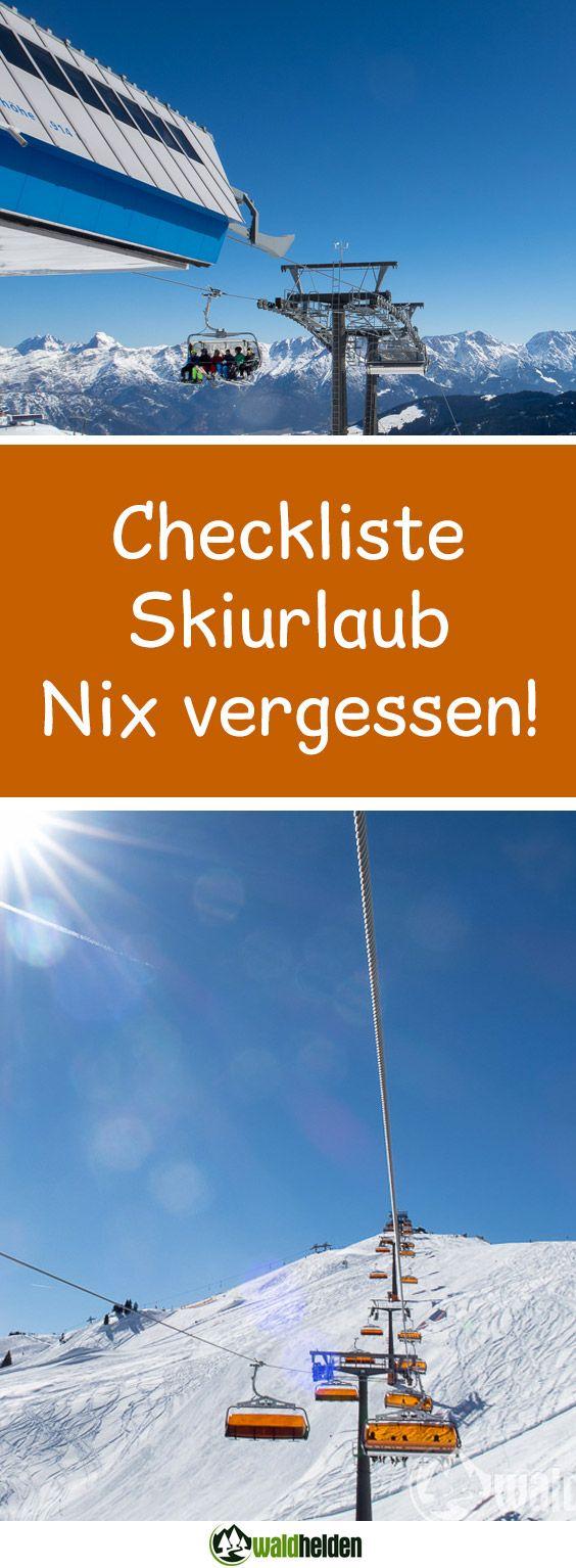 Eine Packliste oder Checkliste für den Skiurlaub sollte bei der Vorbereitung des nächsten Skiurlaubs auf keinen Fall fehlen. Denn bei Schnee und eisigen Temperaturen müssen größere Koffer her als für den Sommerurlaub am Strand. Zudem wollen die Skier pistenfertig sein, vielleicht musst Du noch die Kanten