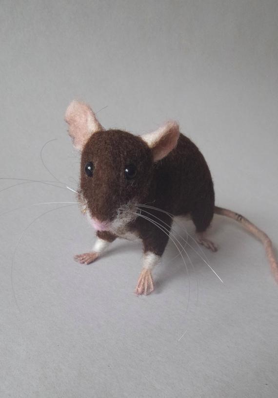 Wanderratte Skulptur Gefilzte Haus Maus Leben Grosse Biegbar Tier Art Puppe Felt Animals Animals House Mouse