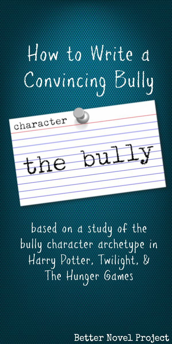 Clearly  the bully antagonizes the hero and provides lots of tension throughout the story  It  s also a way to connect with the emotions of young adults  who are bound to have been exposed to at least the news stories if not actual bullying at school  Bullying can be verbal  like taunts   social  like spreading rumors   and physical  like tripping