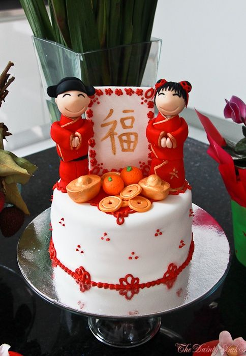 Chinese New Year themed Cake & cupcakes | Chinese themed Party