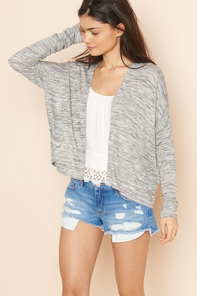 Boxy Sweater Caridgan