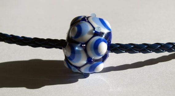 necklace with one handmade lampwork bead