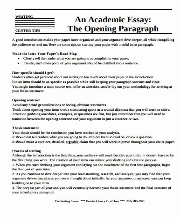 Academic Writing Sample Essay Awesome 12 Essay Samples In Pdf Essay Sample Essay Academic Writing