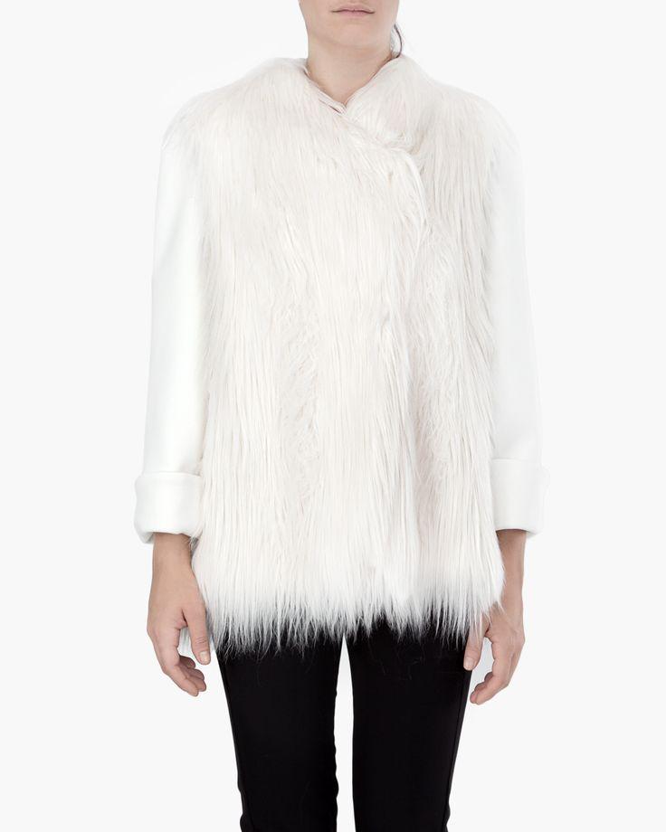 Short faux-fur jacket // Malloni Online Boutique