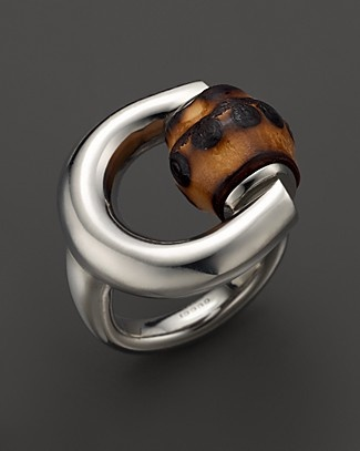 Unique Gucci Horsebit Bamboo Ring